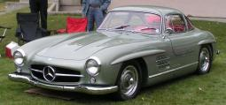 Greenish Mercedes 300SL Gullwing car picture.jpg