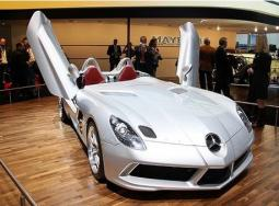 Mercedes Benz SLR Concept Car in light silver_very cool sport car.jpg