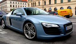Blue Audi R8 sport cars picture.PNG