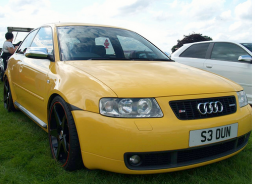 Bright yellow Audi S3 Quattro Coupe car pictures.PNG