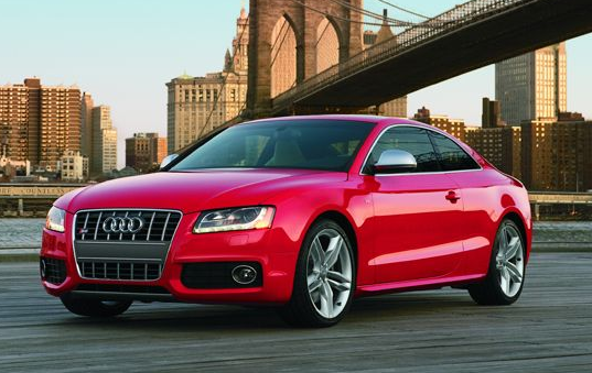 2010 Audi S5 Coupe  car with two doors in red.PNG