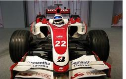 Autosport International F1 Race Car 2008 in  red and white.jpg