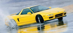 997 Acura NSX-T sport car in bright yellow.PNG