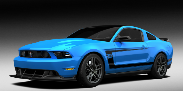 2012 Ford Mustang in blue with black patterns.PNG