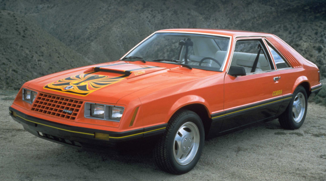 Unique mustang cars photos of 1981 Ford Mustang Cobra in orange and black.PNG