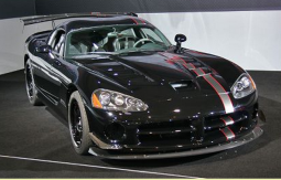 Race car pictures of a 2010 Dodge Viper in black with silver and red lines.PNG