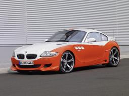 BMW race car in orange and white.jpg