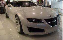 White Saab concept car at auto show Miami.jpg