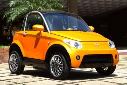 Funky new electric car in bright yellow.jpg