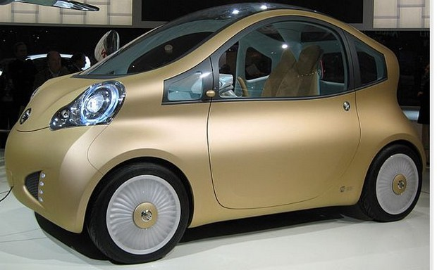 funk and modern car in golden color_Nuvu model car.jpg