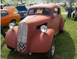 Brown custom car in vintage style.jpg