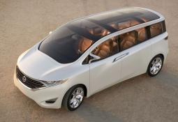 Nissan van with a very cool style in creamy white looking so cool.JPG