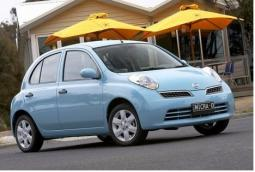 Very cut interesting baby blue Nissan car picture.JPG