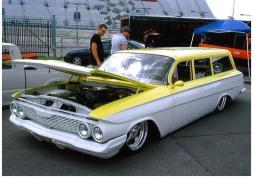 White and yellow 1961 Chevy Impala at car show.jpg