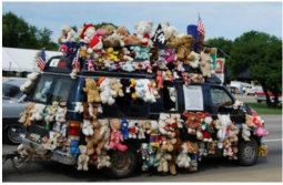 Car decorated with full of teddy bears.PNG