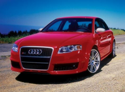 Cool hot red Audi car with 2007 Audi RS4 model.PNG