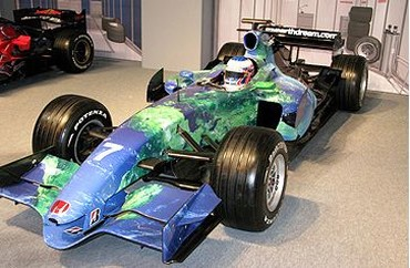 Autosport International F1 Race Car 2008 in blue with light green lines.jpg