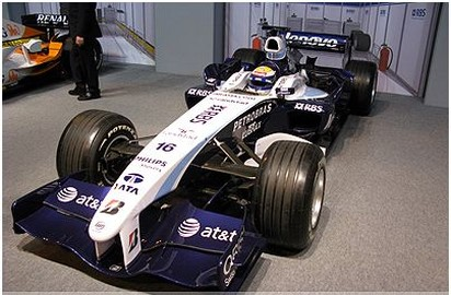 Autosport International F1 Race Car 2008 in white and some blue.jpg