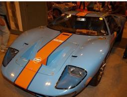Ford GT40 Race car in baby blue with bright orange lines.jpg