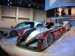 LeMans Audi R10 TDI Race Car in siliver and red.jpg