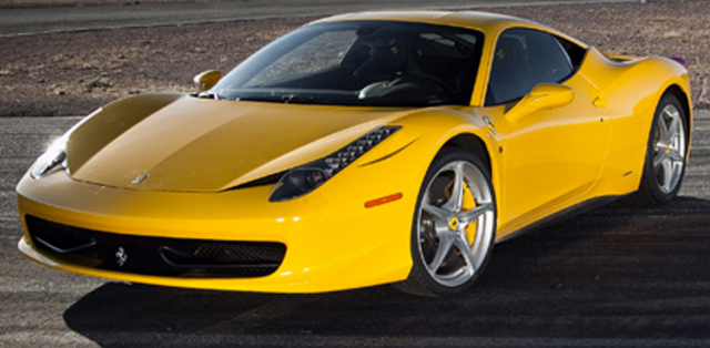 Sexy sport cars photos of Yellow Ferrari 458 Italia.PNG