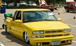 Lowrider yellow Chevy truck.JPG