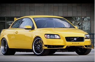 Volvo C30 Evovle car in bright yellow.PNG