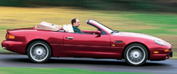 Red sport cars pictures of a 1997 Aston Martin DB7 Volante.PNG
