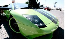 Lamborghini Murcielago in green with black lines.jpg